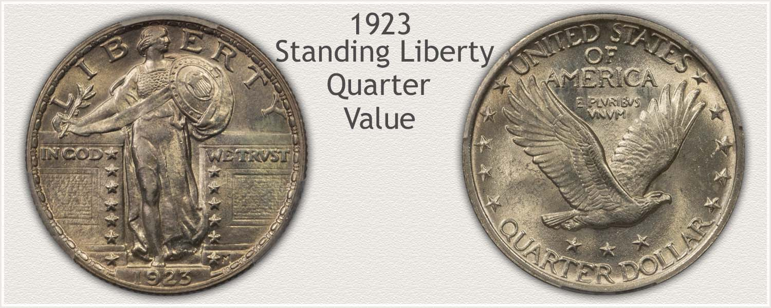 1923 Quarter - Standing Liberty Series - Obverse and Reverse View