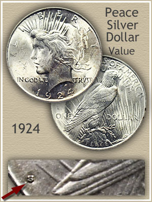 Uncirculated 1924 Peace Silver Dollar Value