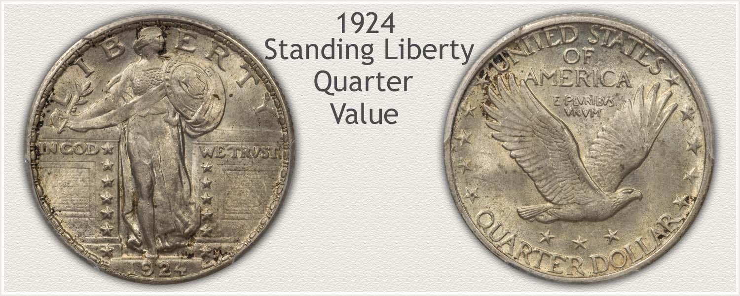 1924 Quarter - Standing Liberty Series - Obverse and Reverse View