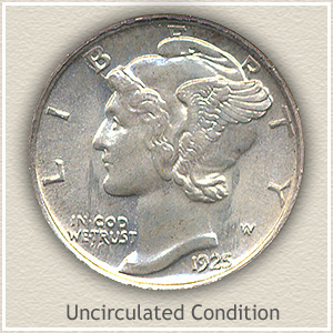 1925 Dime Uncirculated Condition