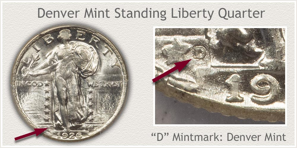 1926-D Standing Liberty Quarter