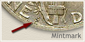 1926 Dime S Mintmark Location