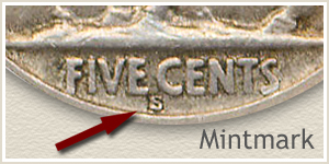 1926 Nickel S Mintmark Location