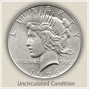 1926 Peace Silver Dollar Uncirculated Condition