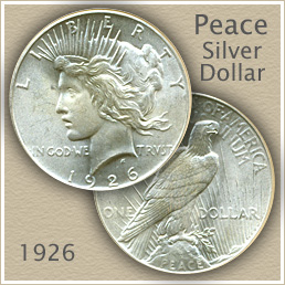 Uncirculated 1926 Peace Silver Dollar Value