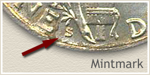 1927 Dime S Mintmark Location