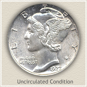 1927 Dime Uncirculated Condition