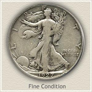 1927 Half Dollar Fine Condition