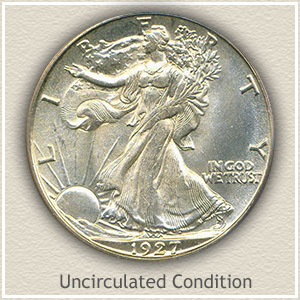 1927 Half Dollar Uncirculated Condition