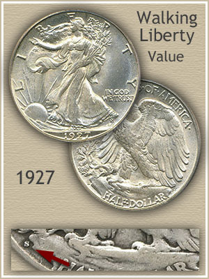 Uncirculated 1927 Half Dollar Value