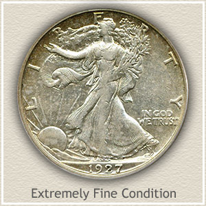 1927 Half Dollar Extremely Fine Condition