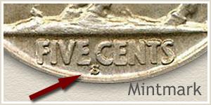 1927 Nickel S Mintmark Location