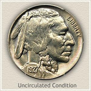 1927 Nickel Uncirculated Condition