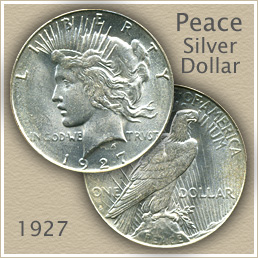 Uncirculated 1927 Peace Silver Dollar Value