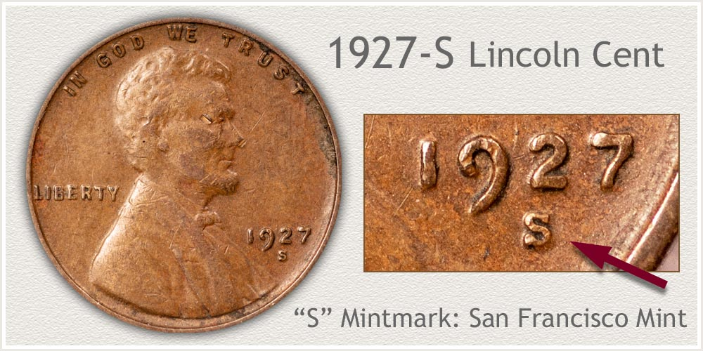 1927-S Lincoln Penny