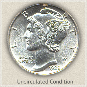 1928 Dime Uncirculated Condition