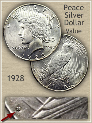 Uncirculated 1928 Peace Silver Dollar Value