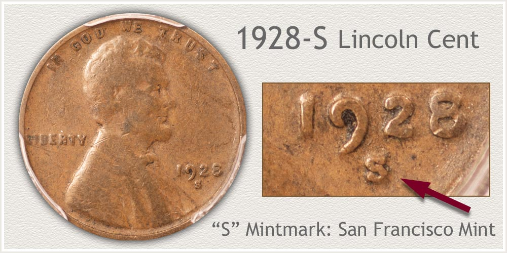 1928-S Lincoln Penny