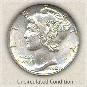 1929 Dime Uncirculated Condition