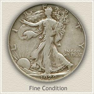 1929 Half Dollar Fine Condition