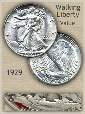 Uncirculated 1929 Half Dollar Value