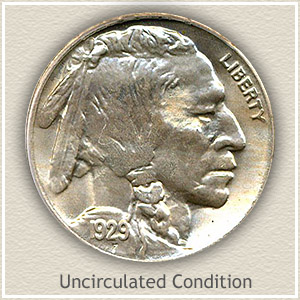 1929 Nickel Uncirculated Condition