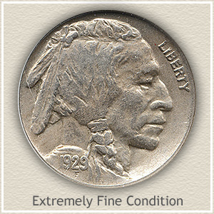 1929 Nickel Extremely Fine Condition