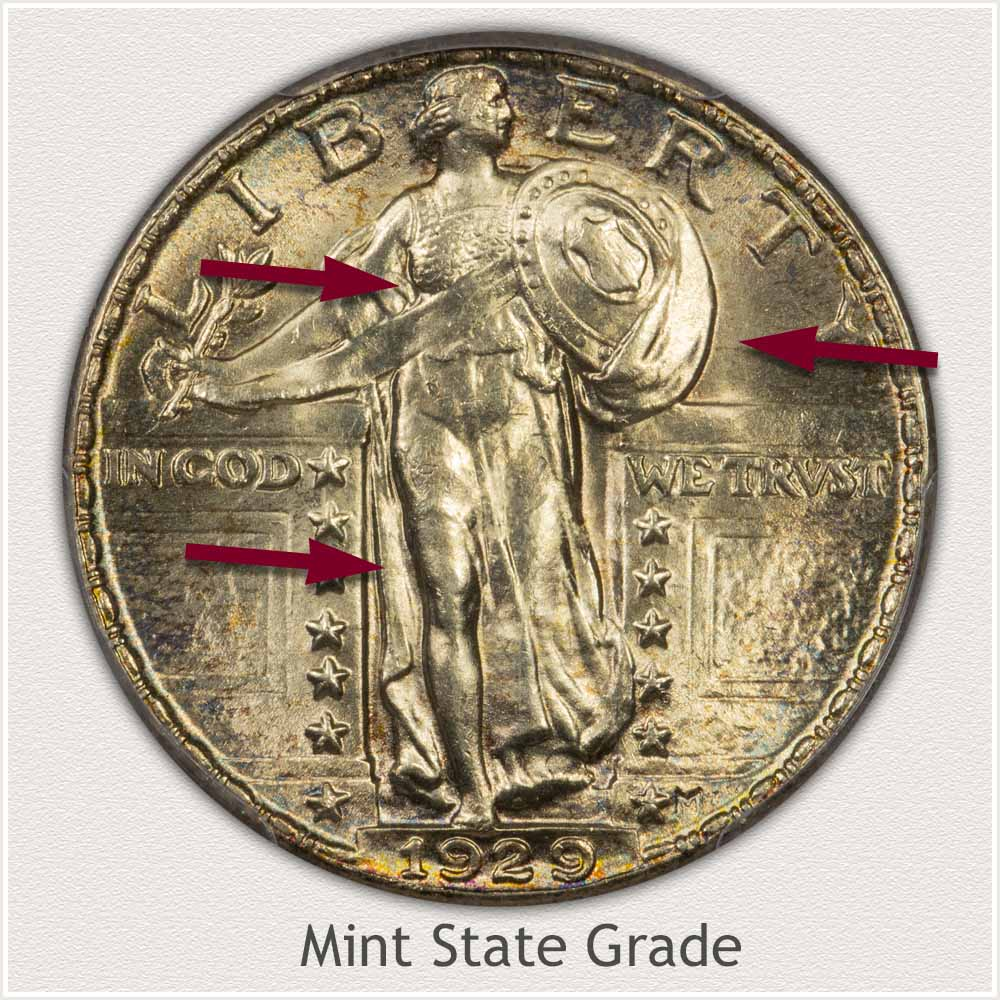 1929 Standing Liberty Quarter Mint State Grade
