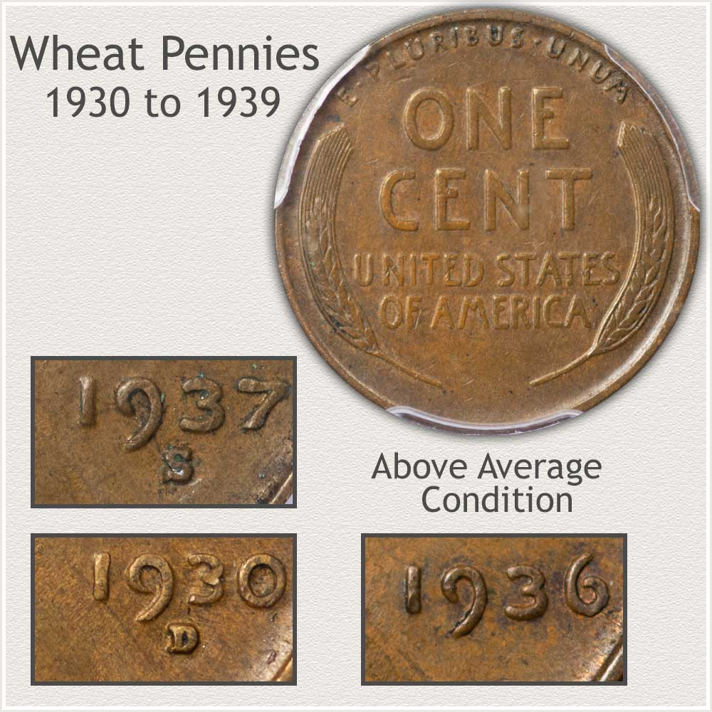 Important Features of the 1930's Decade Wheat Pennies