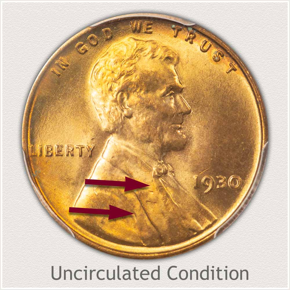 Uncirculated Grade 1930 Lincoln Penny