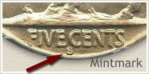 1930 Nickel S Mintmark Location
