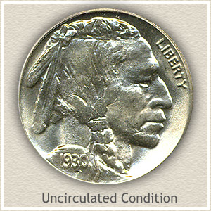1930 Nickel Uncirculated Condition
