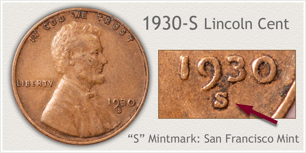 1930-S Lincoln Penny