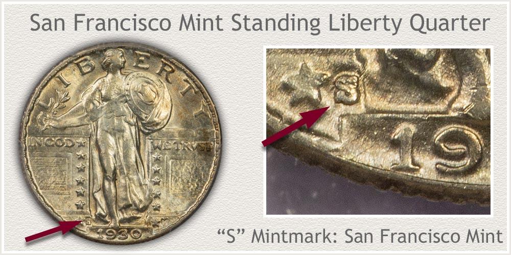 1930-S Standing Liberty Quarter