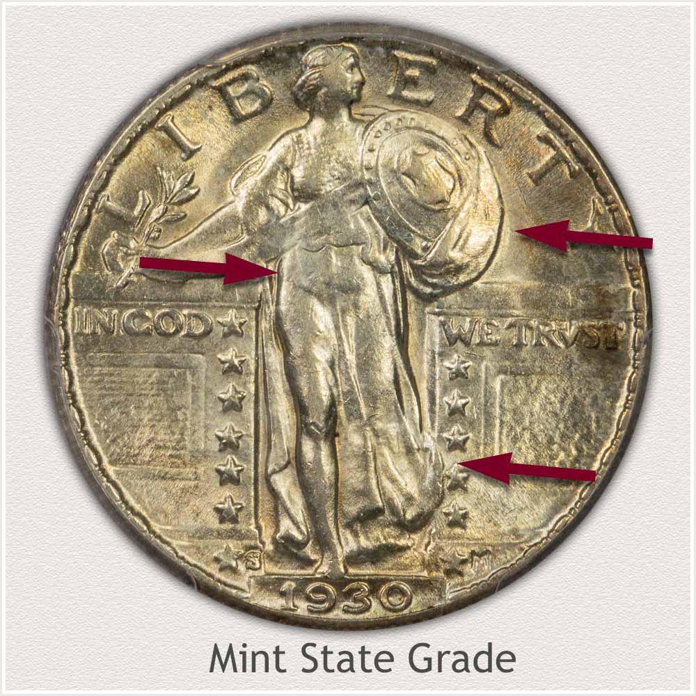 1930 Standing Liberty Quarter Mint State Grade