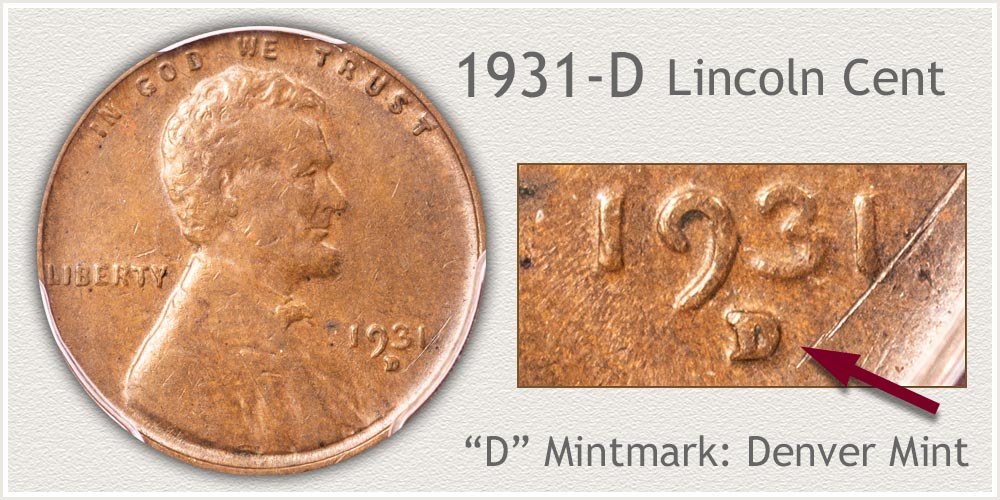 1931-D Lincoln Penny