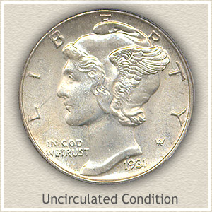 1931 Dime Uncirculated Condition