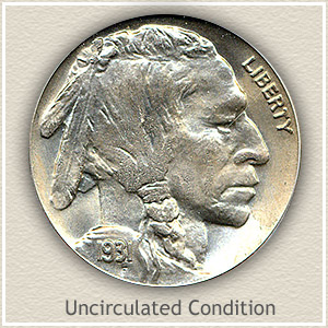1931 Nickel Uncirculated Condition
