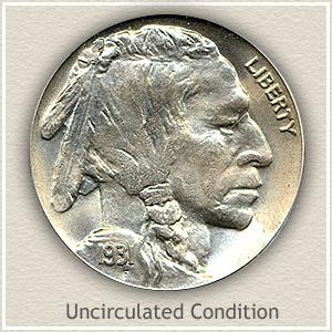 1931 Nickel Uncirculated Condition