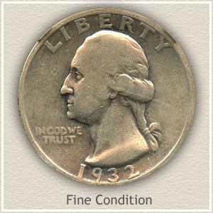 1932 Quarter Fine Condition
