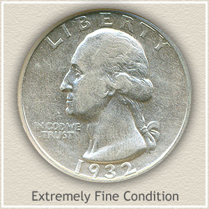 1932 Quarter Extremely Fine Condition