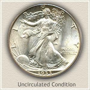 1933 Half Dollar Uncirculated Condition