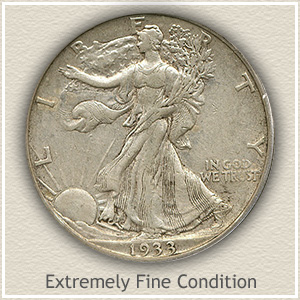 1933 Half Dollar Extremely Find Condition
