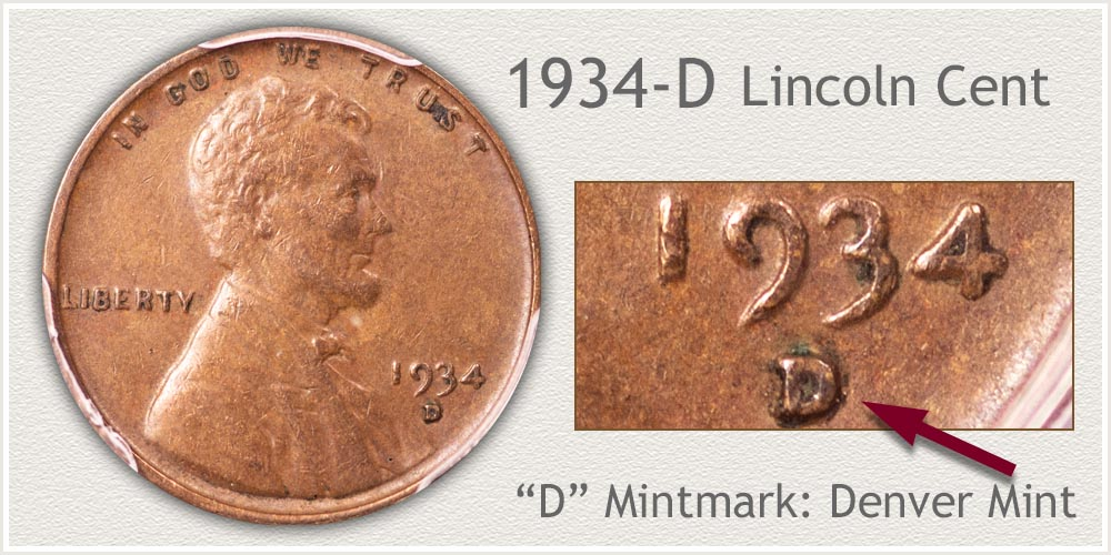 1934-D Lincoln Penny