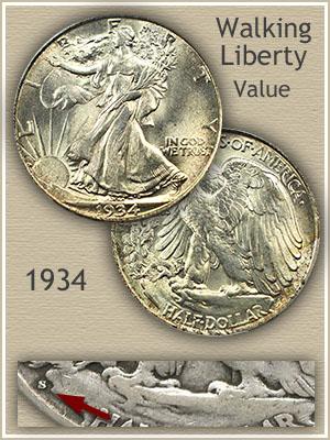 Uncirculated 1934 Half Dollar Value