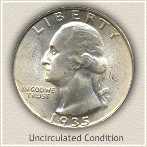 1935 Quarter Uncirculated Condition