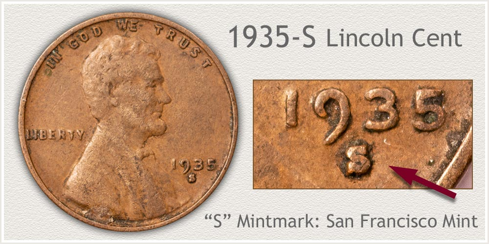 1935-S Lincoln Penny
