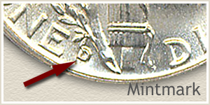 1936 Dime D Mintmark Location