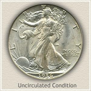 1936 Half Dollar Uncirculated Condition
