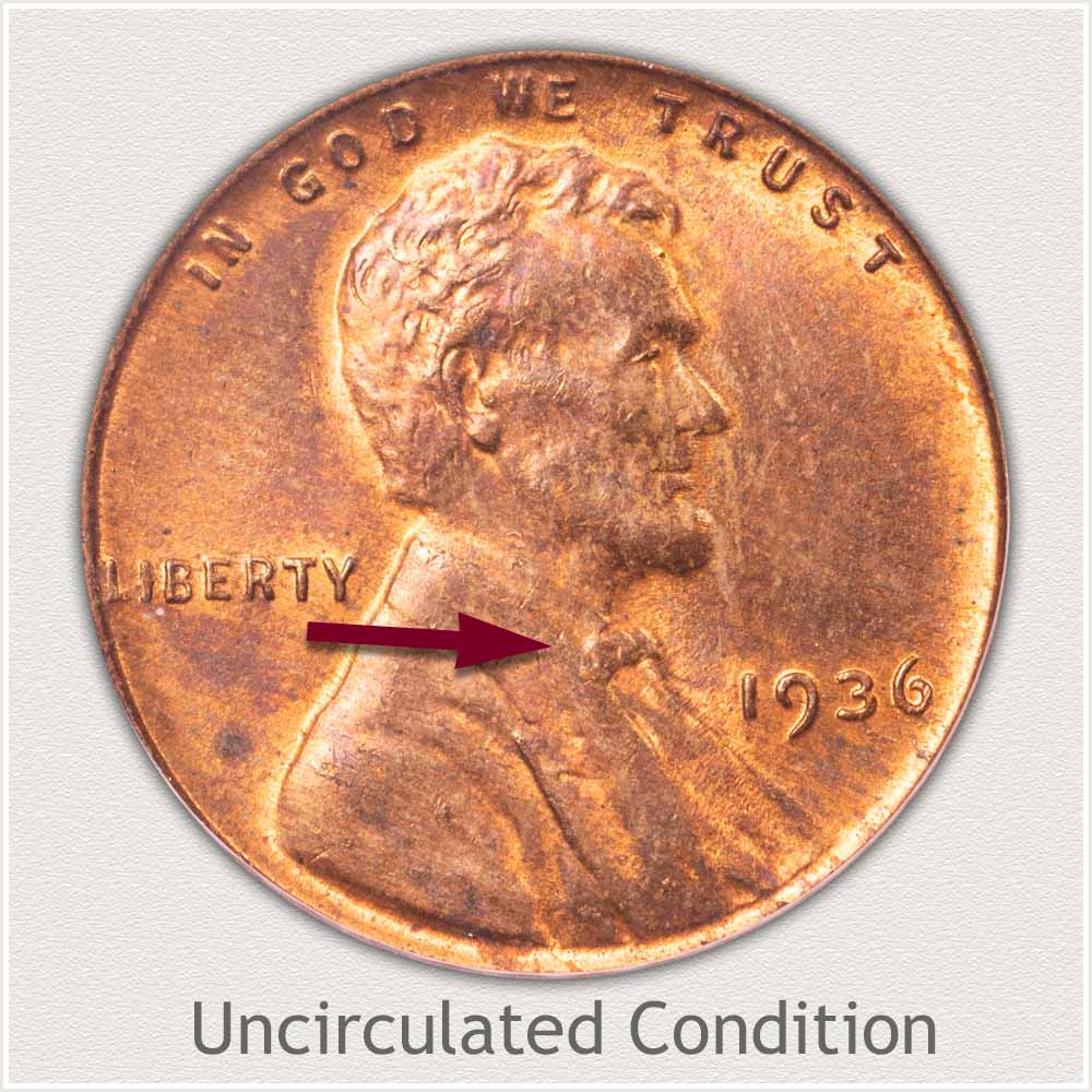 Uncirculated Grade 1936 Lincoln Penny